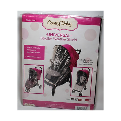 Comfy Baby Universal Stroller Weather Shield Black Free S/H