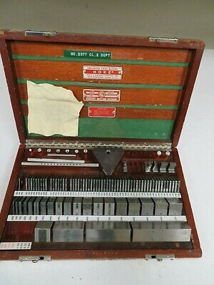 Pratt & Whitney/Hoke/Mixed 81 piece, Square, English Gage Block Set - NS24