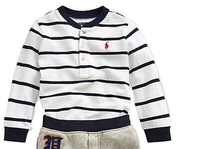 Genuine Ralph Lauren Polo Baby Boys 3 button striped long sleeved top 3/24m £49