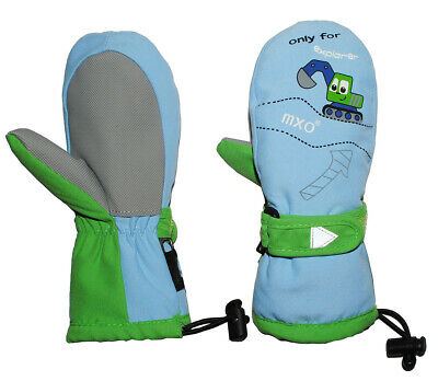 Gloves with Long Shaft - Dipper - Car Blue/Green - Sizes: 1 - 5 Years