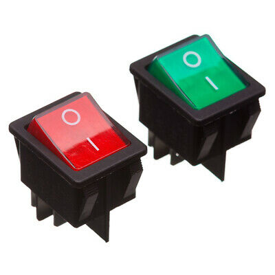 Double Pole Rocker Switch Red and Green Options