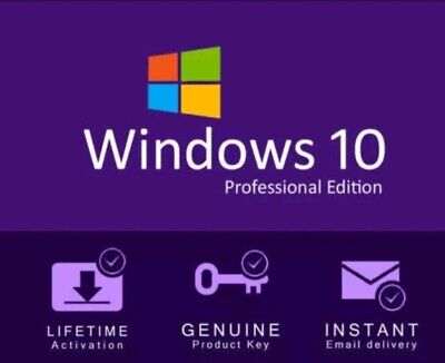 WINDOWS 10 Pro 64&32 BIT FAST DELIVERY GENUINE PRODUCT KEY FAST DELIVERY