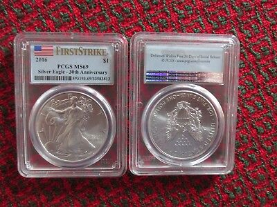 2016 FIRST STRIKE PCGS MS69 SILVER EAGLE 30th ANNIVERSARY