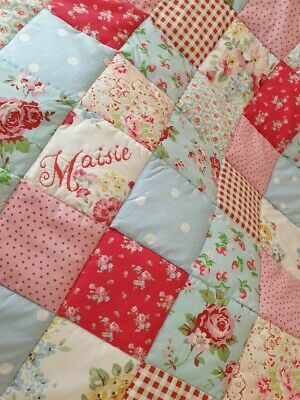 Vintage Style Patchwork Quilt Handmade with lots of Cath Kidston Tanya Whelan