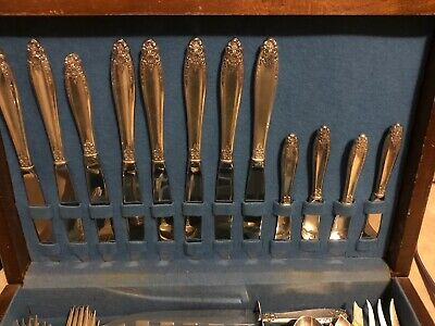 48 pc International Prelude sterling silver flatware W/Case Priced To Move.