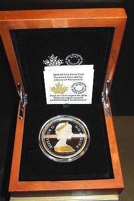 BIG MASTER's Renewed Silver Dollar 2016 Canada 50 mm Library Parliament $1 COIN