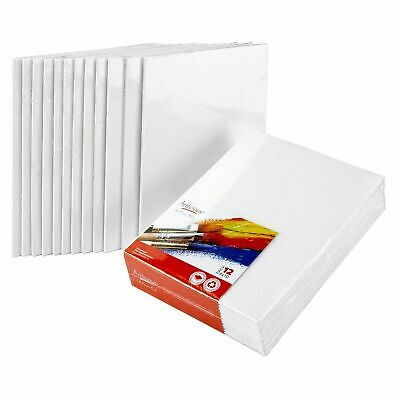 """Artlicious Canvas Panels 12 Pack - 8""""X10"""" Super Value Pack- Artist Canvas Boards"""