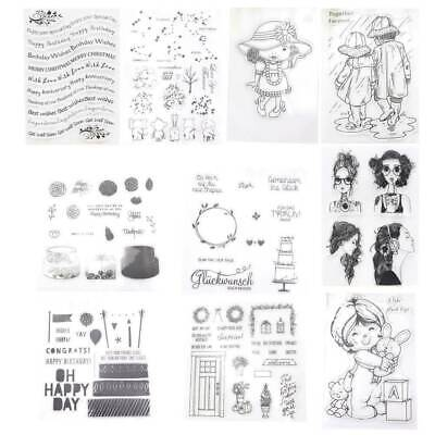 Transparent Silicone Clear Stamp Cling Seal Scrapbook Embossing Album Decor C1A