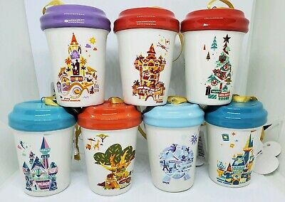 Starbucks 2019 Disney Parks Christmas Ornament Tumbler Complete Set  - Brand New