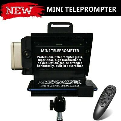 Black Mini Teleprompter for All IPhone 7 8 9 X Android Phone Smartphone NEW