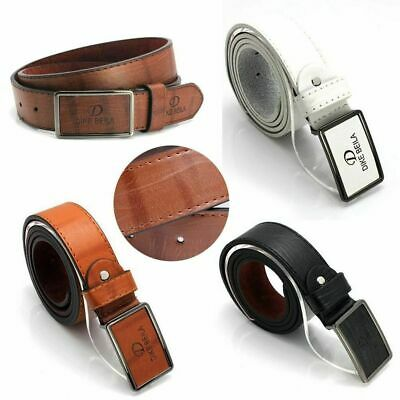 Men's Leather Waistband Automatic Buckle Belt Waist Strap Casual Belts Gift aa