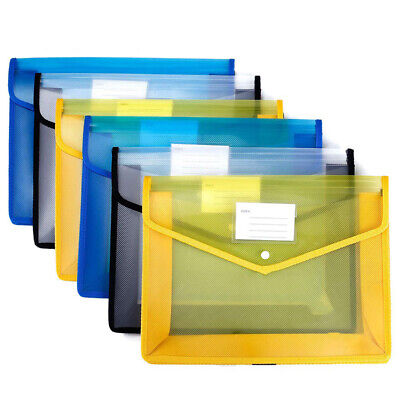 [6 Pack] Pp Folders with Closure and Pockets, Expandable Envelope Wallet, 14.5 I