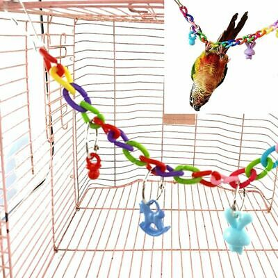Pet Bird Parrot Hanging Ladder Macaw Cage Swing Shelf Bites Play Toys Hot-