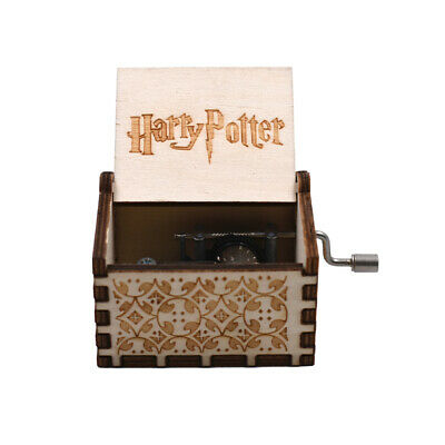 Harry Potter Hand Crank Music Box White Color Wooden Music Box Holiday Gifts