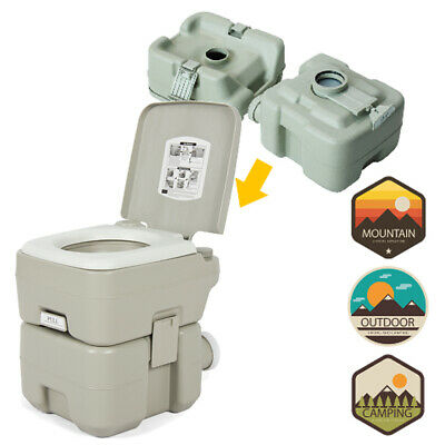 10L 20L Gallon Portable Toilet Flush Travel Camping Outdoor Indoor Potty Commode