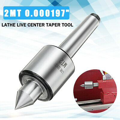 Center Taper Tool Equipment Silver MT2 Live Shaft Triple Bearing Rotary