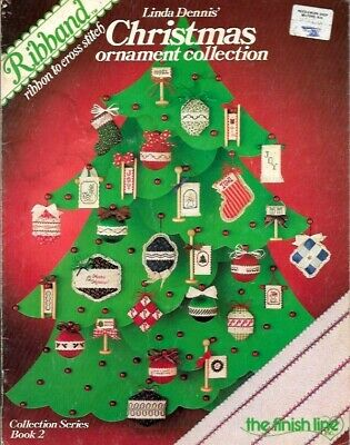 Christmas Ornament Collection Ribband Ribbon to Cross Stitch Book 2 Finish Line