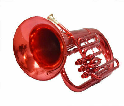 Euphonium 3 valve, RED COLOR Bb pitch with hard case + MP;