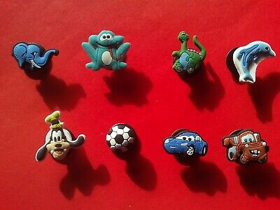 4 Stitch jibbitz crocs wrist hair loom band shoe charms cake toppers