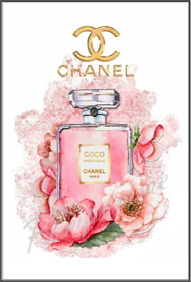 Chanel Perfume Bottle Wall Art Print Picture Home Decor Dressing Room Xmas Gift