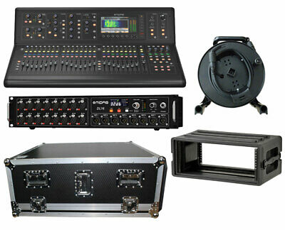 Midas M32 Live Digital Studio Mixer + DL16 Stage Box + 150' Cat5 Cable + Cases