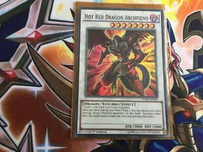 Yugioh-Hot Red Dragon Archfiend-Super Rare-1st Edition-HSRD EN040