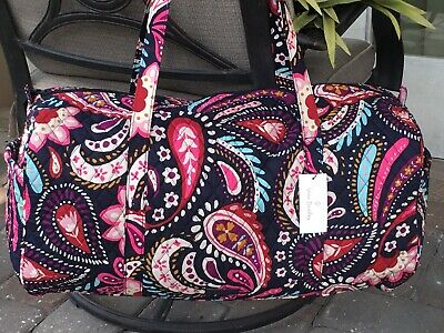 Vera Bradley Large Traveler Duffel Bag Painted Paisley Overnight Tote $99