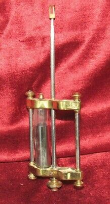 Nice Old Antique Four Glass Clock Pendulum With One Tube