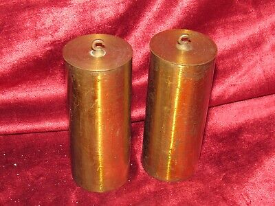 Good Quality Pair Of Brass Antique Vienna Clock Weights