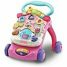 Vtech First Steps Baby Walker Pink Brand New Toy Walk Learn Play Push Along Kids
