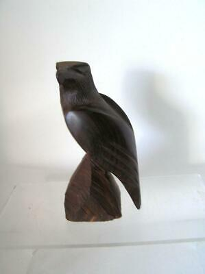 "Eagle Ironwood Sculpture Hand Carved Statue Wildlife Bird 8.5"" tall"