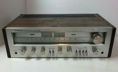 Vintage Pioneer SX 650 Stereo Receiver Silver Face Tested Working AS IS