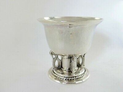 Beautiful OMAR RAMSDEN SILVER WINE GOBLET, London 1922 Arts & Crafts Chalice