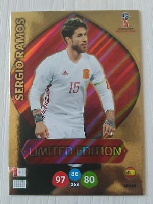 Sergio Ramos Spain World Fifa Mundial Russia Limited Edition Adrenalyn 2018 18