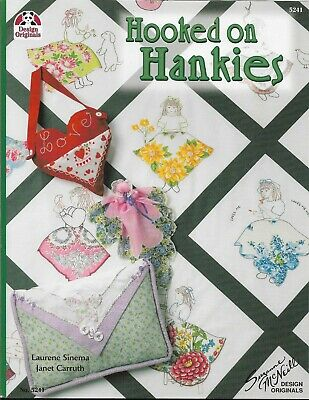 Patchwork & Quilting Book HOOKED ON HANKIES by Laurene Sinema & Janet Carruth