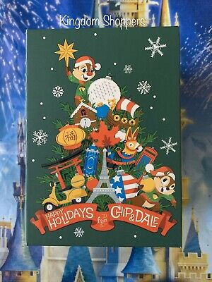 2019 Disney Epcot Festival Of The Holidays Chip & Dale LE2500 MagicBand