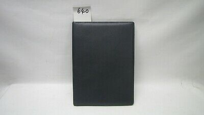 A4 BlueReal Leather room information menu (style 640) with 2 clear pockets