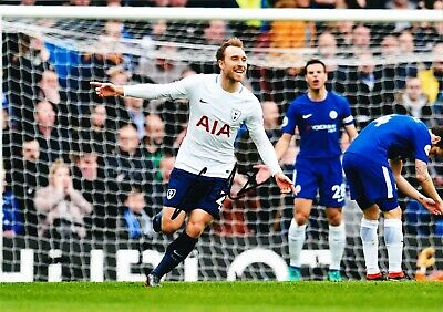 Christian Eriksen Signed 12X8 Photo SPURS Tottenham Hotspur AFTAL COA (1475)