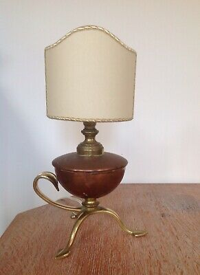 Was Benson Small Lamp Lampe Arts & Crafts Nouveau - Signed