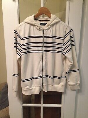 Next Cream/navy Stripe Hoodie Girls Age 11 Years