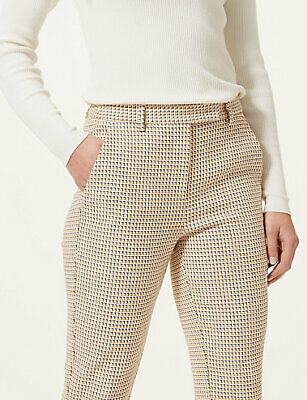 Slim Textured Ankle Grazer Trousers Marks & Spencers Brand New Christmas Present