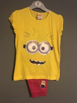 Minion Childrens Girls Pyjamas 5-6 Years Top And Trousers New With Tags