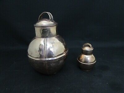Vintage Copper De La Rue Guernsey Milk/Cream Can/Jug + J.Quenault Miniature