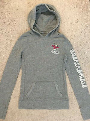 Abercrombie & Fitch Kids Girl's Grey Hoodie Jumper Size Small