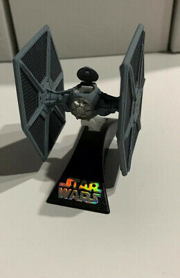 Star Wars Titanium Series Die Cast TIE FIGHTER W/Stand -Loose- Galoob- Grey-2004