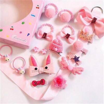 18Pcs Baby Girls Head wear Elastic Bow knot Hair Clip Barrette Hairpin New