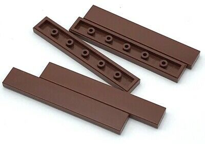 Lego New Reddish Brown Tiles 1 x 3 Flat Smooth Pieces