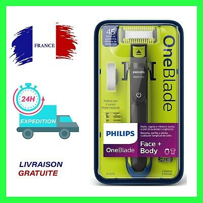 Philips One Blade Rasoir Electrique Homme Barbe + 1 lame + 3 sabots