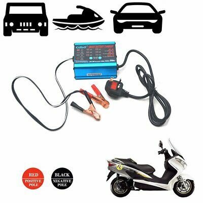 12V 6V Car Battery Charger Full Automatic Intelligent Fast Vans Motorcycle Bikes