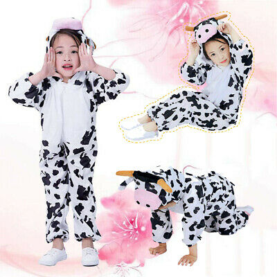 Christmas Children's Kids Animal Character Fancy Dress Costume Cow Outfit Xmas